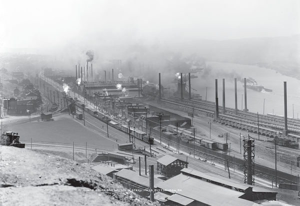 One of the Jones and Laughlin steelworks in Pittsburgh.