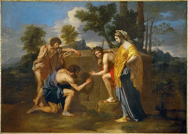 Nicolas Poussin's Et in Arcadia ego (also known as The Arcadian Shepherds).