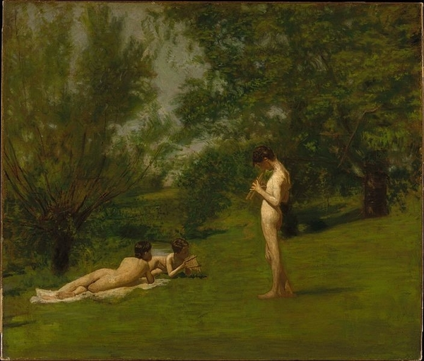 Thomas Eakins' Arcadia, a 19th century painting depicting the Eden-like Arcadia.