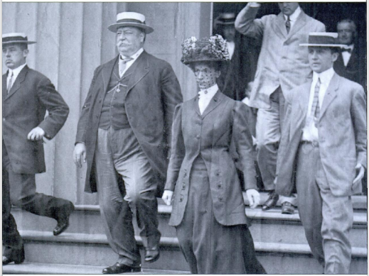 President William Howard Taft and his wife, Nellie.
