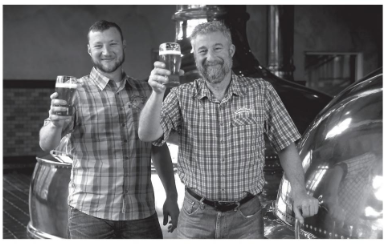 An image of Brian and Ken Grossman of Sierra Nevada Brewing.