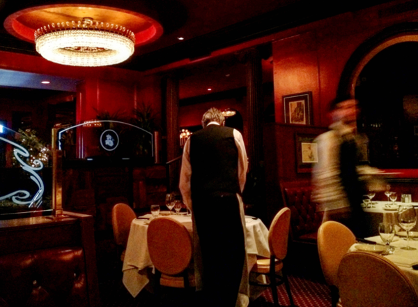 A waiter at Alfred's steakhouse.