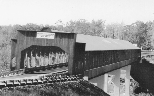 The Smolen-Gulf covered bridge, the longest covered bridge in the United States.