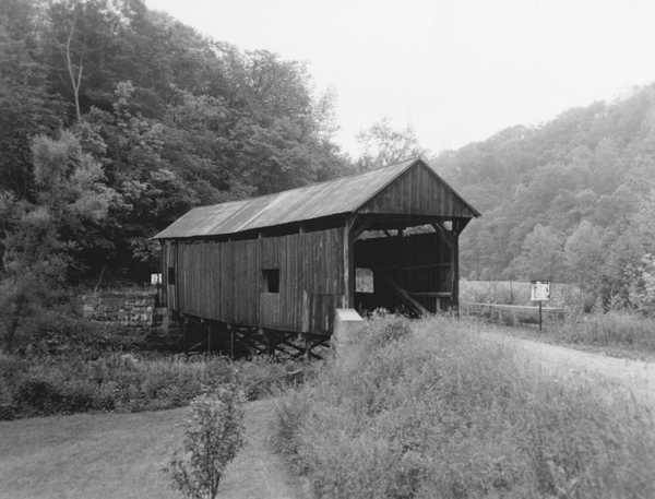 The Longdon Covered Bridge in West Finley Township, Pennsylvania. Pennsylvania has more covered bridges than any state in the country.