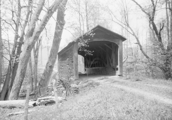 Hyde Hall bridge, the oldest covered bridge in the US.