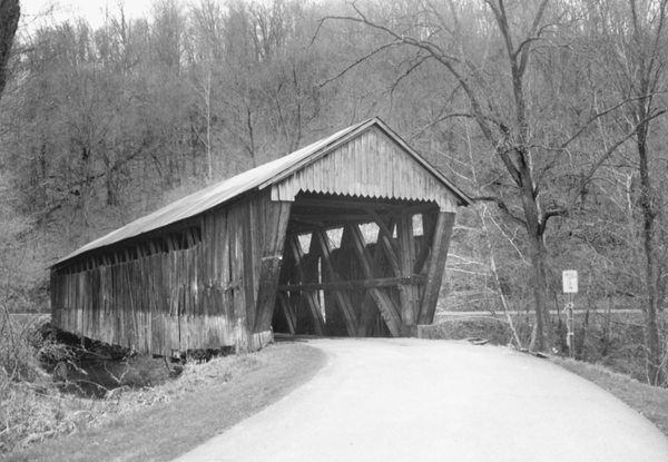 Bennett's Mill Bridge in Greenup County, Kentucky. This bridge was built in 1855, and last renovated in 2004.