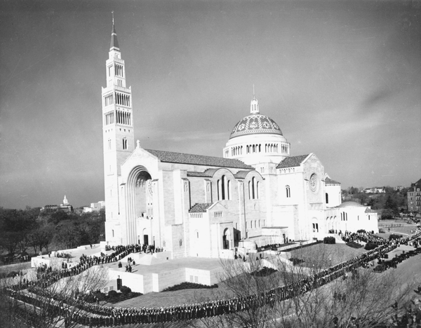 Basilica of the National Shrine of the Immaculate Conception. Reprinted from Catholics in Washington D.C. by Christina Cox, courtesy of the CUA (pg. 32, Arcadia Publishing, 2015).