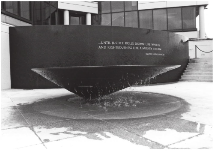 The Civil Rights Memorial.
