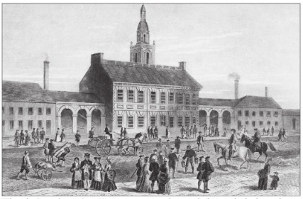 A 1776 engraving of the Pennsylvania State House, where the first Constitutional Convention was held.