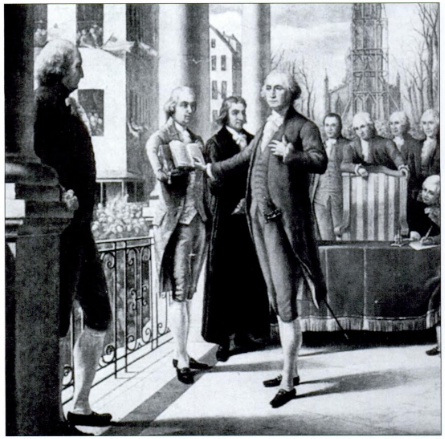Future president George Washington presided over the Constitutional Convention.