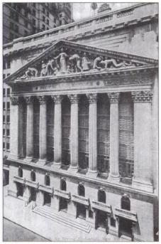 The New York Stock Exchange..