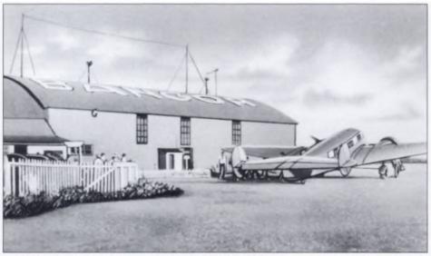 A Lockheed Electra plane.
