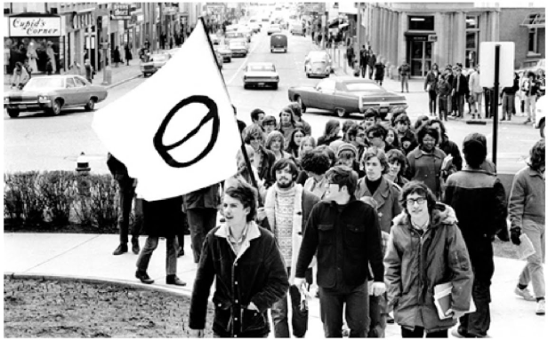 A march from the first Earth Day in 1970.