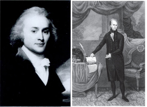 President John Quincy Adams (left), and President Andrew Jackson (right).