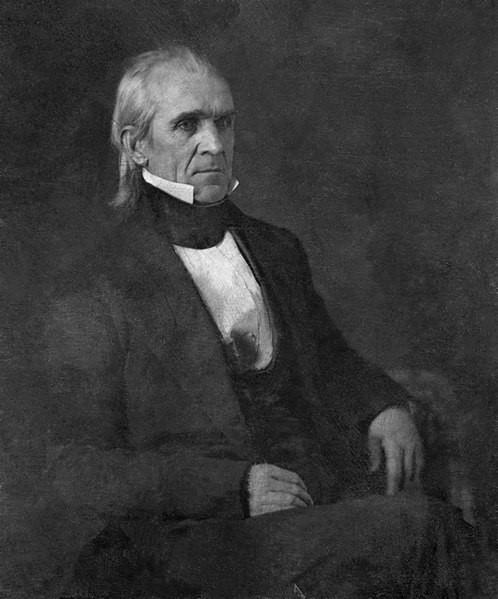 An 1849 daguerreotype of President Polk.