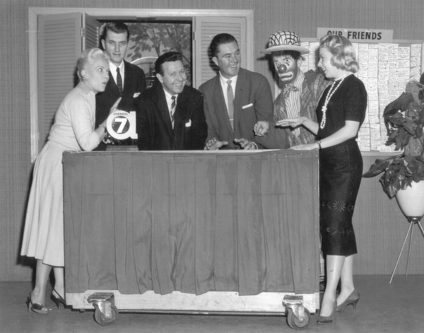 The cast of Our Friend Harry, a Detroit-based 1950s variety TV show.