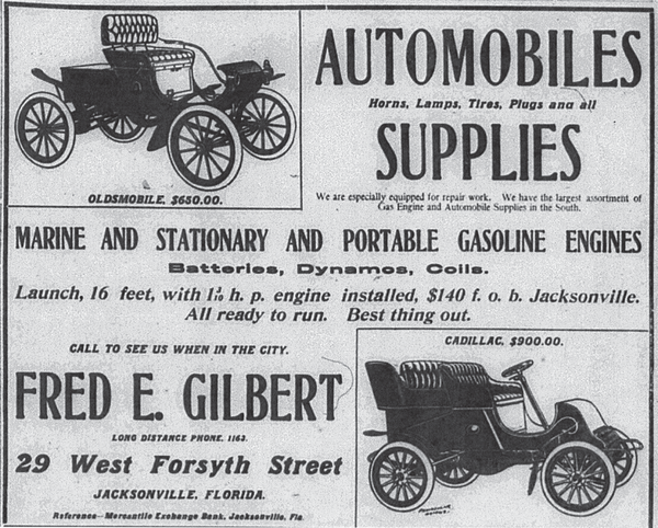 Gilbert advertisement in the Times-Union.