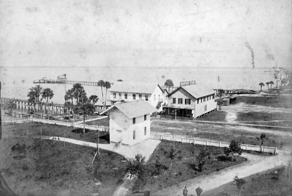 of the waterfront at Sanford, Florida, 1882.