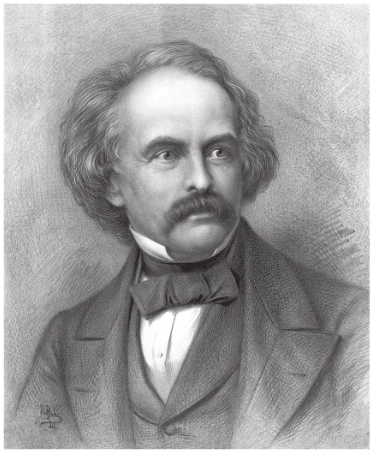 A portrait of Nathaniel Hawthorne.