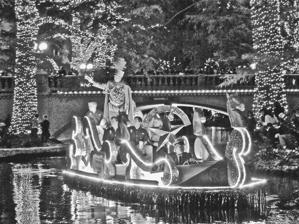 A float from the lighting ceremony for the San Antonio River Walk.