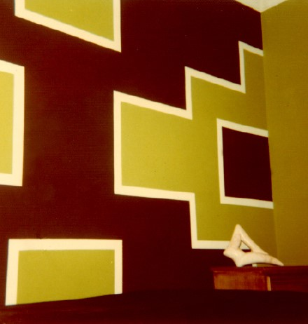 Steps. In 1968 Sharon Koskoff painted a geometric design in her Brooklyn bedroom.