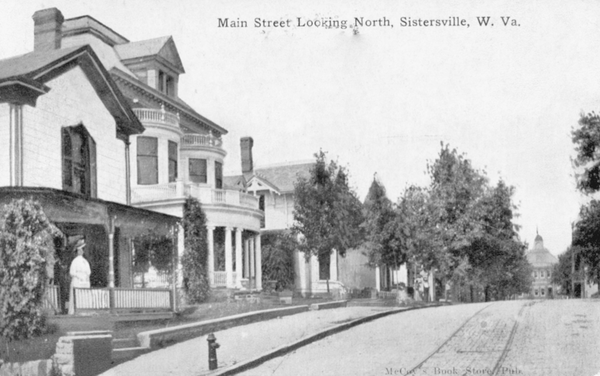 This 1903 photo shows Main Street in Sisterville, West Virginia.