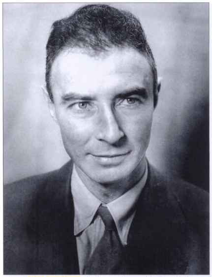 Robert Oppenheimer, the lead scientists on the Manhattan Project.