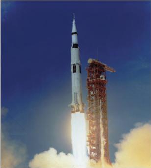 The Apollo 11 rocket.