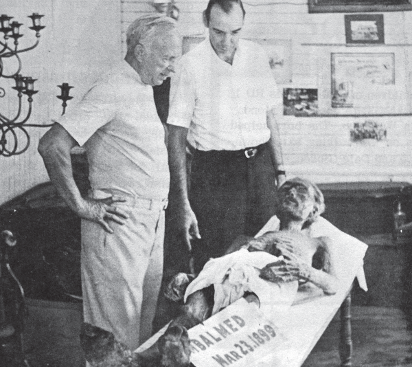 "eorge ""Bill"" Bailey. Thursday, July 29, 1971 edition of the Seneca Falls-Waterloo Reveille. ""Bill"" is on the right; John Genung, of the S.J. Genung & Sons Funeral Home, is center; and Bob Sherwood, a visitor, is on the left. This photo was published the day before Bailey's burial."