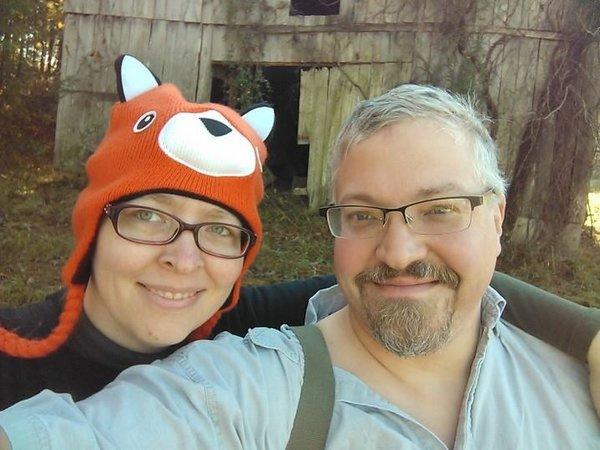 Authors Mark Muncy and Kari Shultz at Goeble Ridge.
