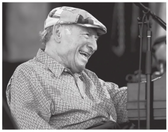 George Wein, the founder of the Newport Folk Festival and Newport Jazz Festival.