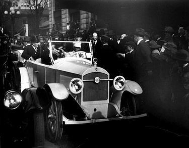 President Warren Harding in a Premocar, built in Birmingham, Alabama. (From the author's collection)