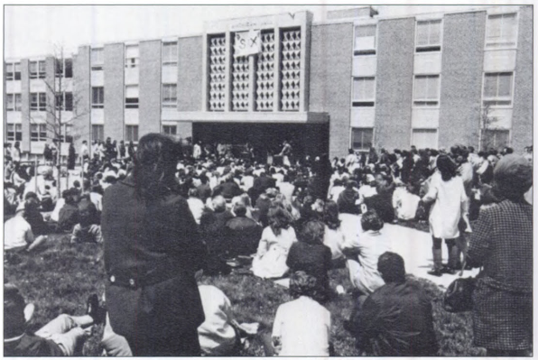 One of the many anti-Vietnam war protests.