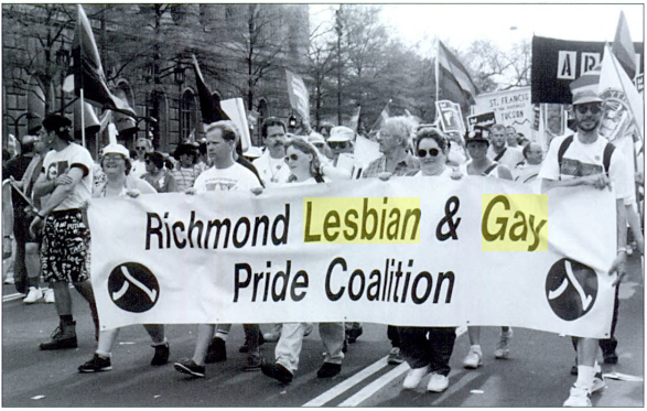 Protesters during the march on DC.