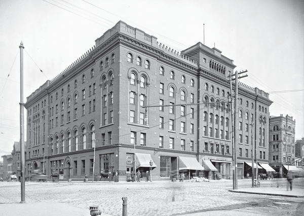 The Great Southern Fireproof Hotel is pictured above shortly after its opening.