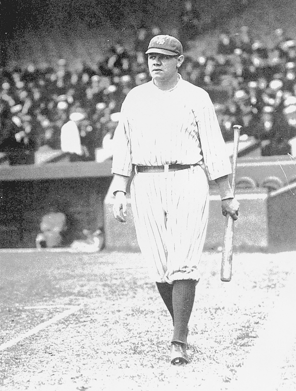 Babe Ruth in 1921.