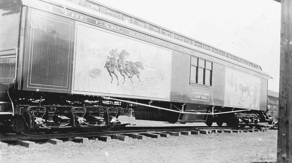 One of the Ringling Brothers train cars.
