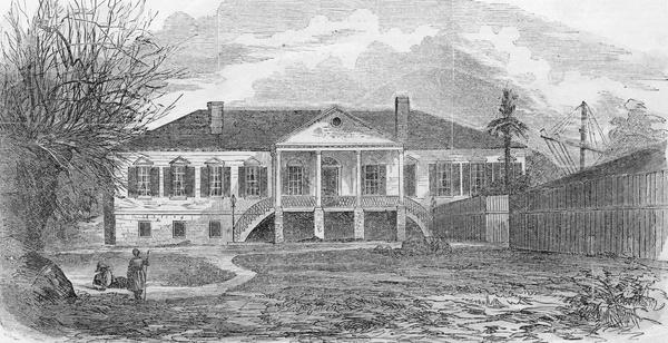 A sketch of the original South Carolina Statehouse.