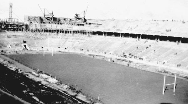 Ohio State University's football stadium in 1922.
