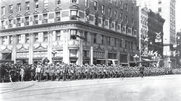 During World War I, Columbus held a parade of the 37th division that cross the corner of Broad and High.