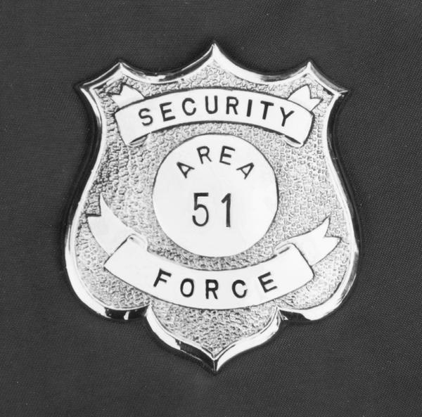An Area 51 badge from the 1960s and 70s.