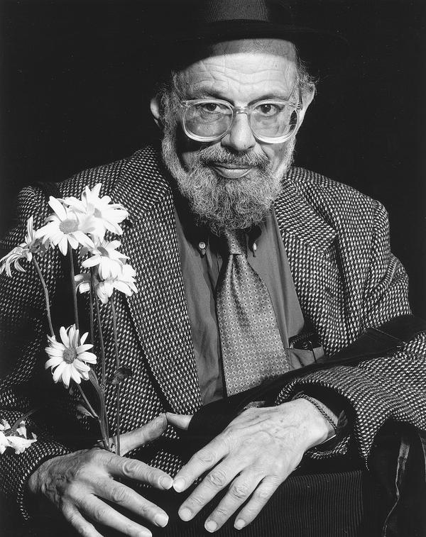 Poet Allen Ginsberg.