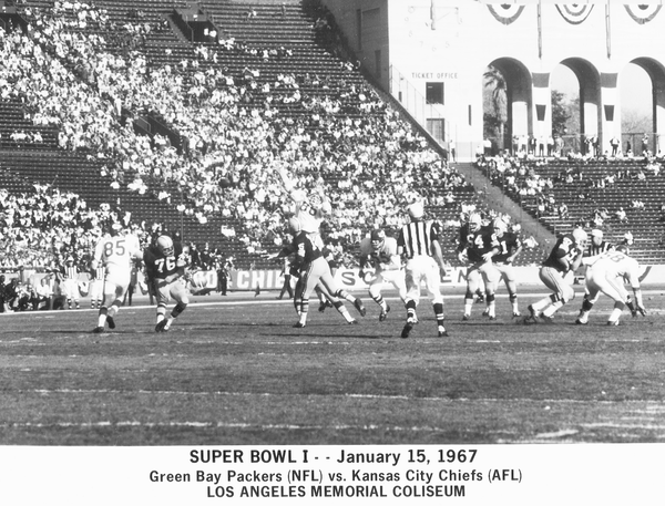 A photo from the first Super Bowl, on January 15, 1967.