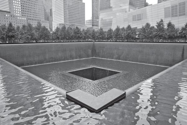 The 9/11 Memorial.