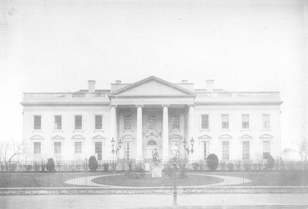 The White House in 1865.