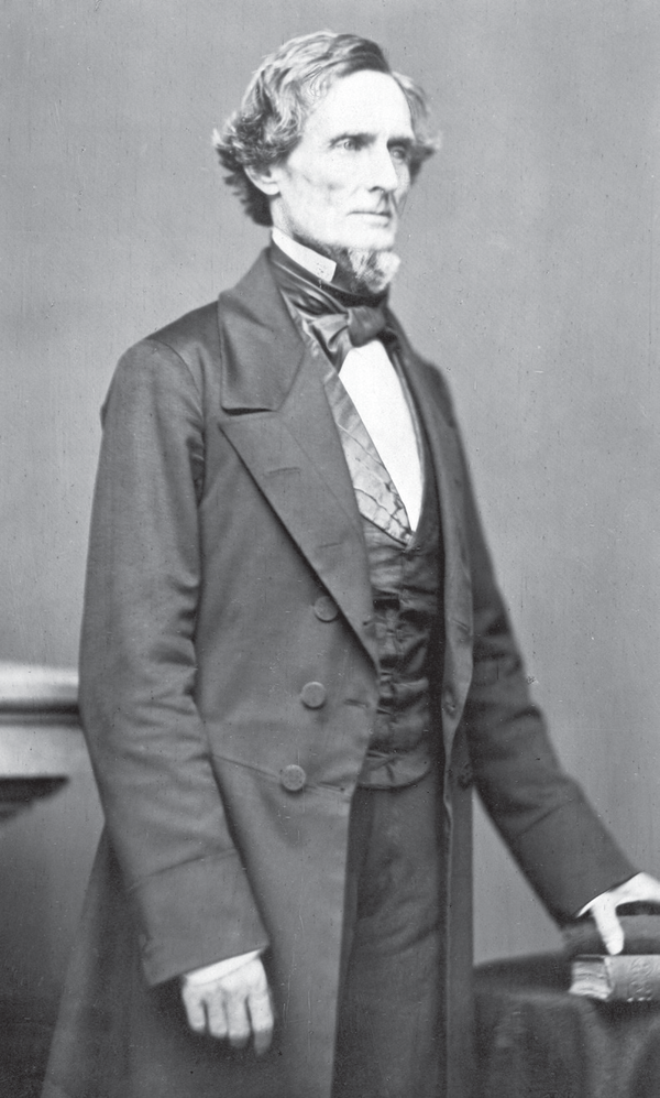 Jefferson Davis, the president of the Confederate States of America.