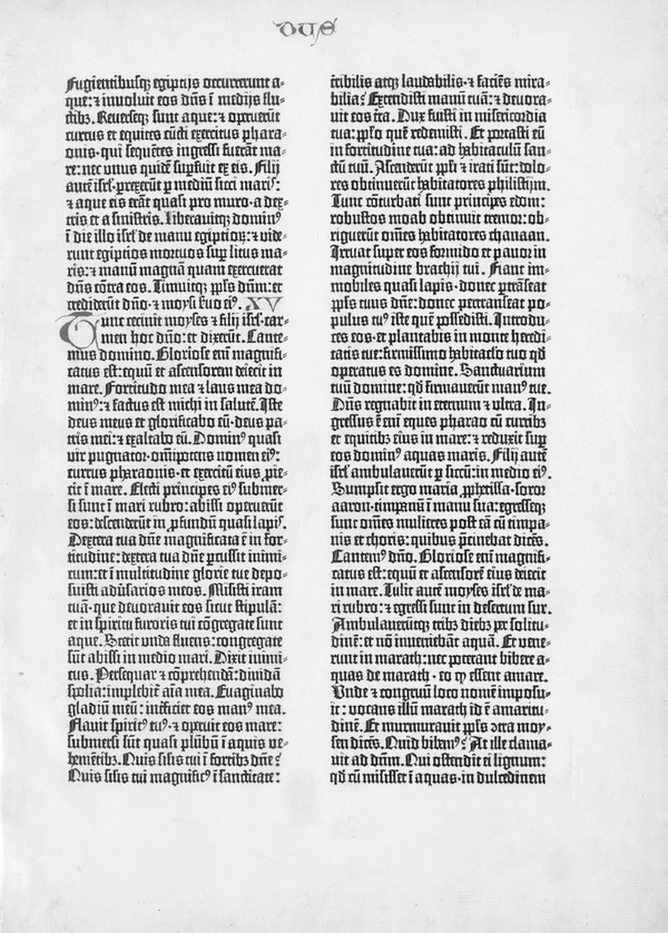 A page from the Gutenberg Bible.