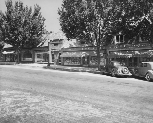 The Brookside dime store, circa 1942. Image courtesy of the State Historical Society of Missouri.