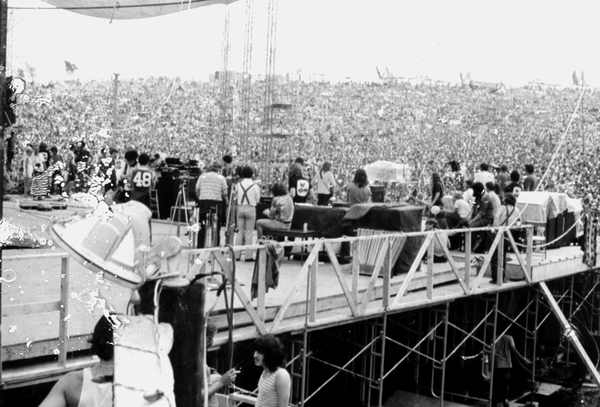 A backstage view at Woodstock.