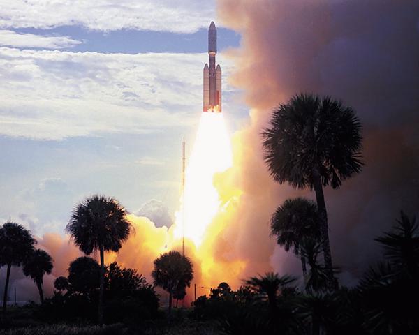 The Viking 1 liftoff.